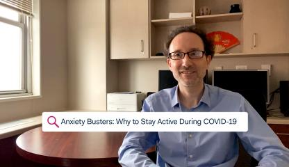 Dr. Paul Bulman, Supervising Psychologist, sitting in an office discussing how to stay active during COVID-19.