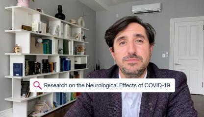 Dr. David Altschul, Montefiore's Chief of Division of Cerebrovascular Neurosurgery, talks about research on the neurological effects of COVID-19