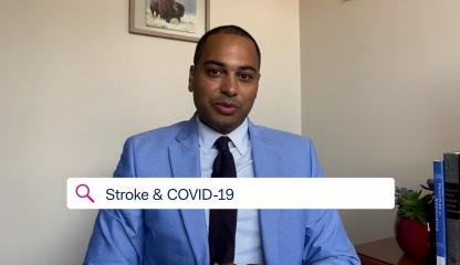 Dr. Charles Esenwa,  Montefiore's Medical Director at the Comprehensive Center for Stroke Care, discussing strokes and COVID-19.