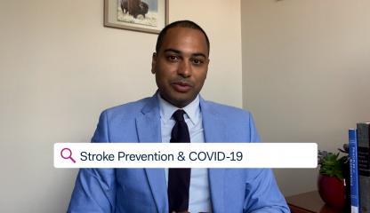 Dr. Charles Esenwa,  Montefiore's Medical Director at the Comprehensive Center for Stroke Care, discussing stroke prevention and COVID-19.